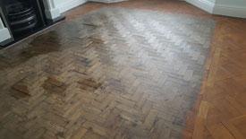Parquet floor restoration Bury